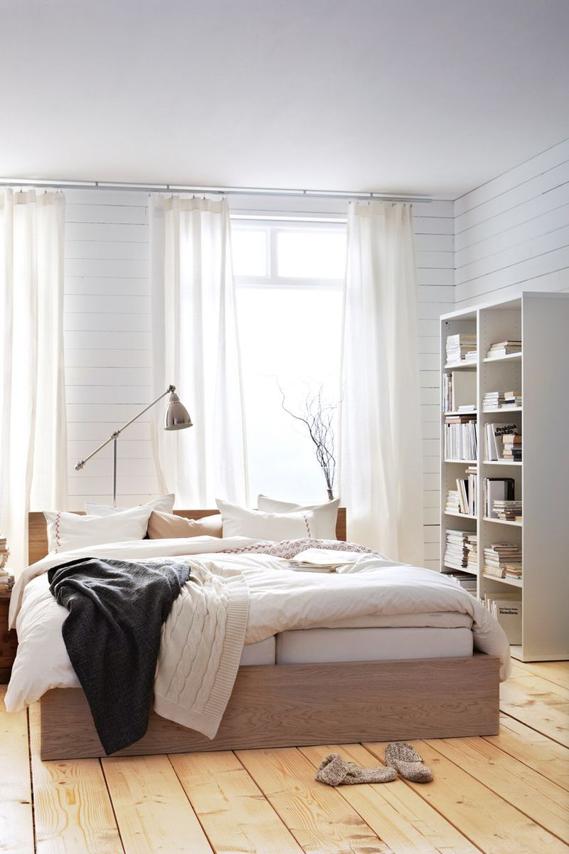 Malm Bettgestell Hoch Eichenfurnier Weiss Lasiert Ikea Deutschland Bettgestell Malm Bett Bett Ideen