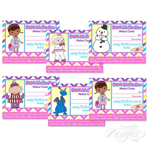 This listing is for doc mcstuffins inspired nameid badges printable print yourself id badges come six to a single 85x11 sheet instructions with regards to printing and how to assemble your badges will solutioingenieria Choice Image