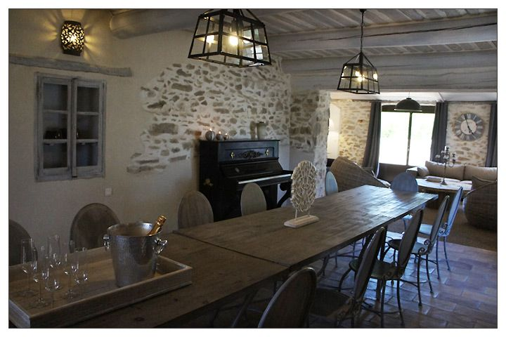 Mas provence salle a manger d co idea pinterest provence for Decoration interieur mas provencal