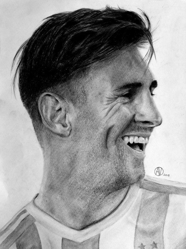 Lionel Messi A Lapiz Messi Dibujo Retratos Fotos De Rostro