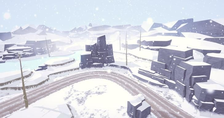 Snow environment assets I'm working on, feedback appreciated