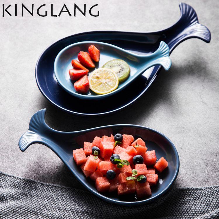 0b61d56e67 3 tamanhos de placas da forma de Baleia conjunto placa prato de cozinha  criativa casa unqiue