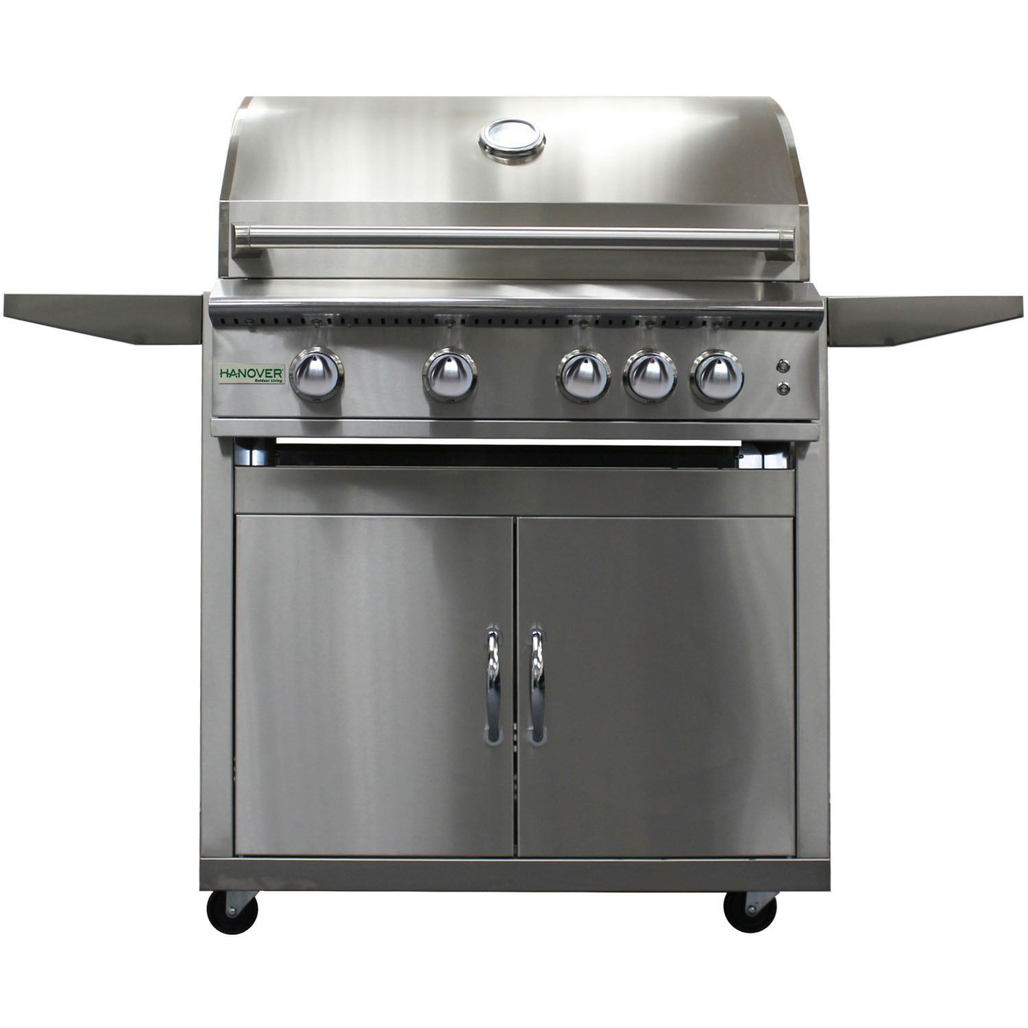 Hanover Grills Stainless Steel 32-inch 4-burner Liquid Propane Grill with Cart (Stainless), Silver