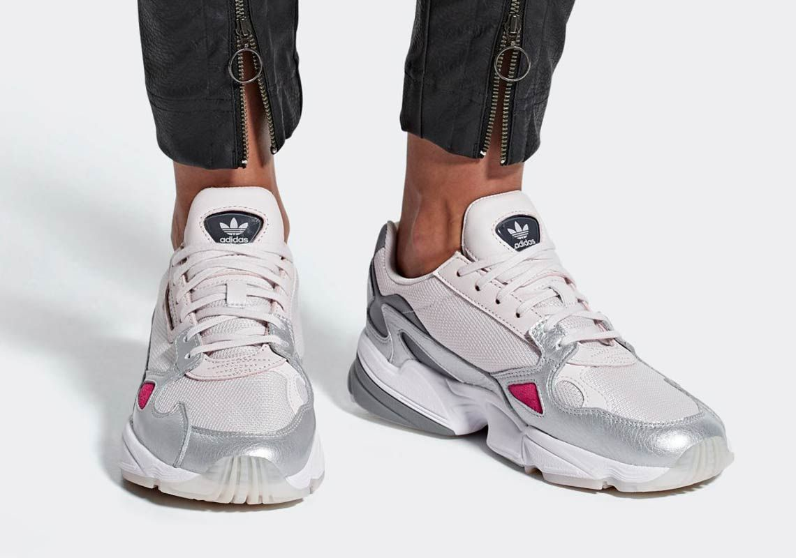 buy popular 983ff b2caa The Ever Popular adidas Falcon For Women Is Releasing In Silver