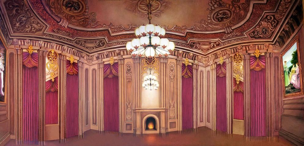 Victorian Palace Ballroom Professional Scenic Backdrop With