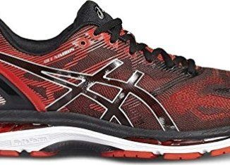 cheap for discount c0c03 6b3af Asics Gel-Nimbus 19 Mens Running Shoes, Color- Black/Red, US ...