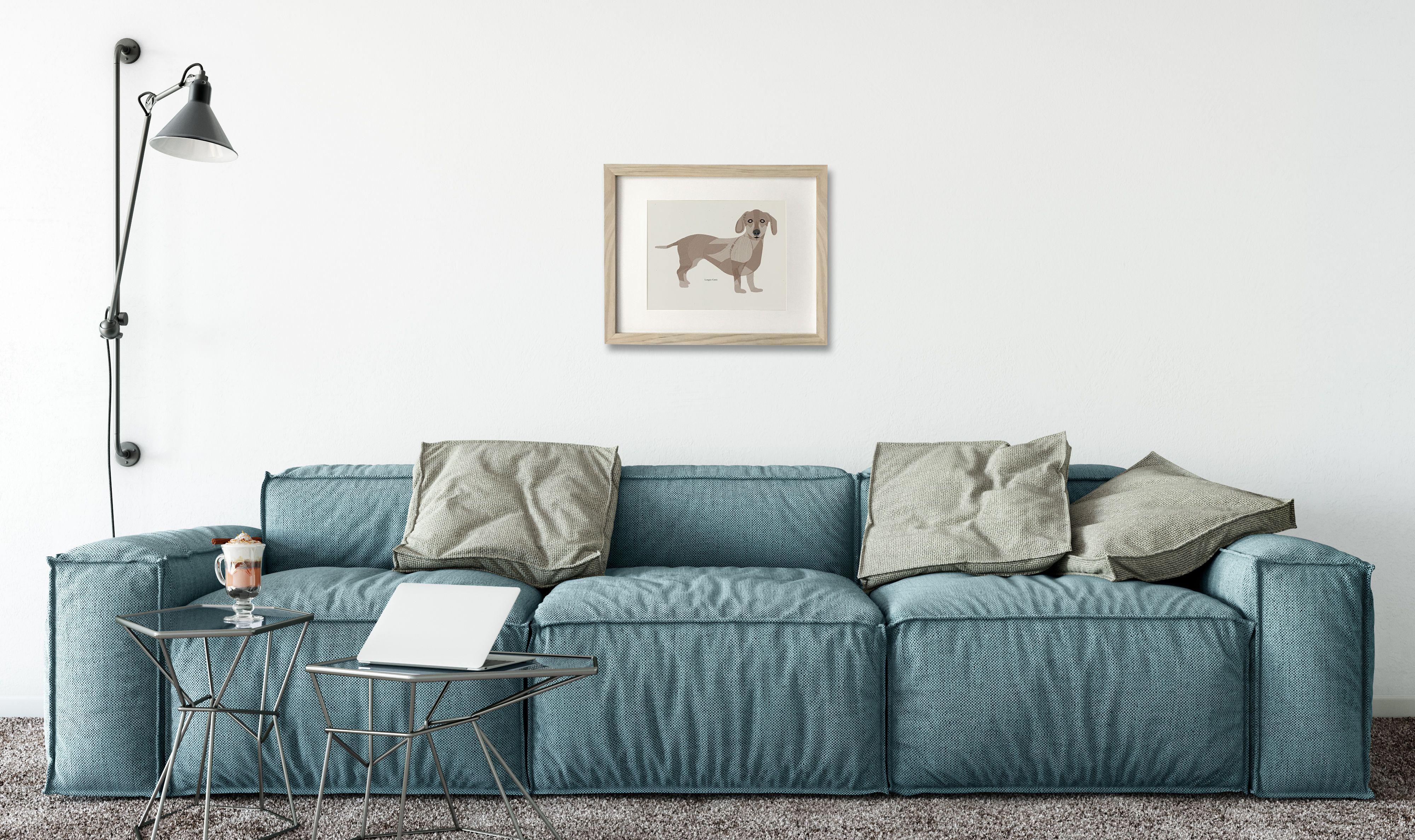 living room art prints%0A Dachshund  long dong  teckel  sausage dog  wiener dog wall art print