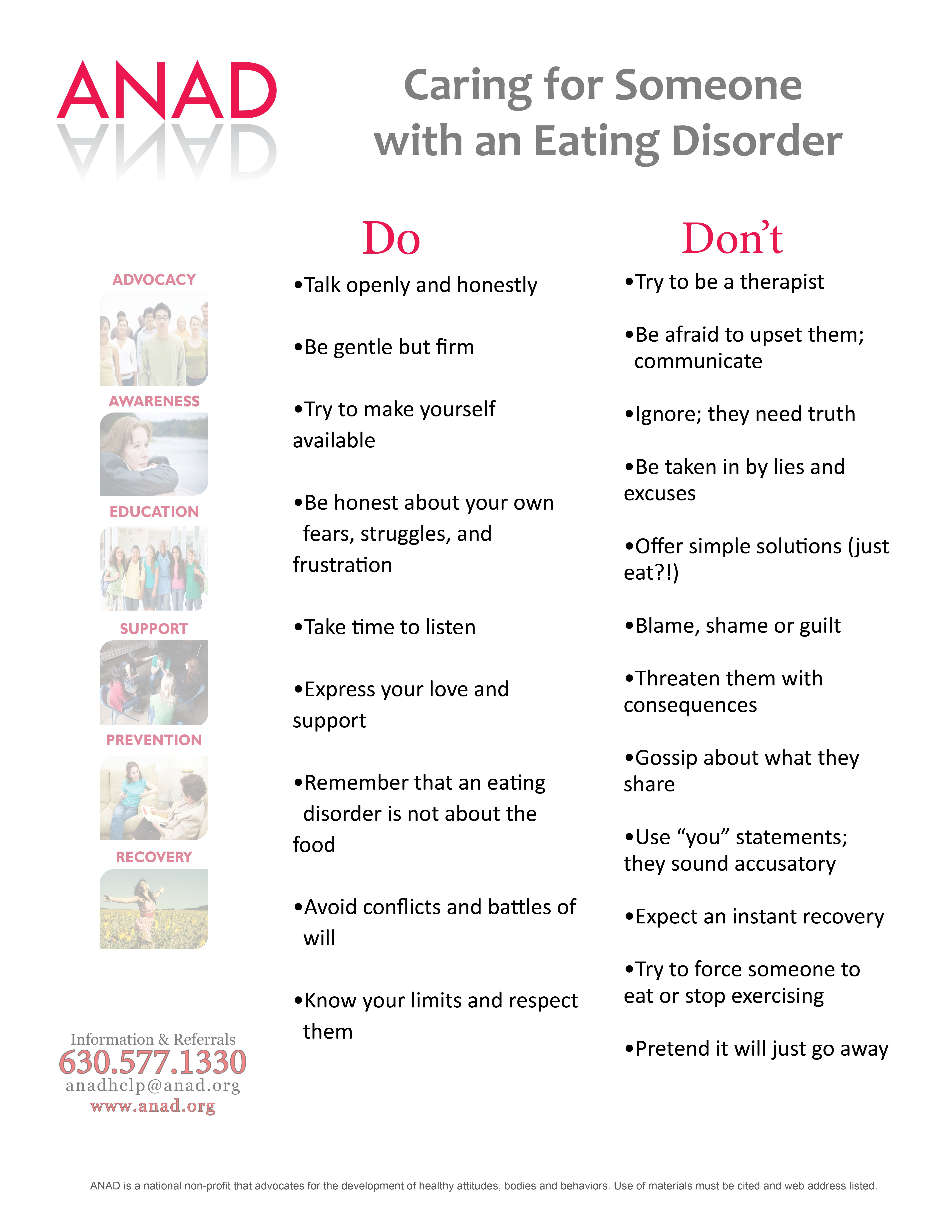 eating disorder myths and recovery | get in the know. | disorders