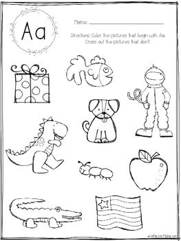 Initial Sounds NO PREP Printables for Pre-K and Kinder
