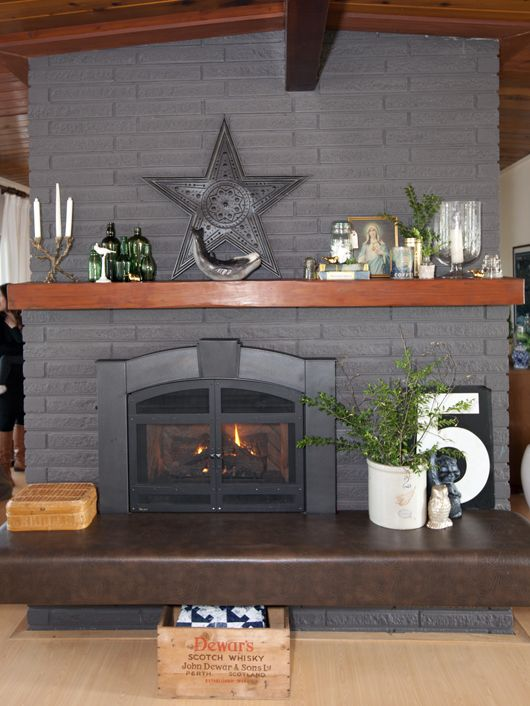 Canada Painted Brick Fireplaces Fireplace Remodel