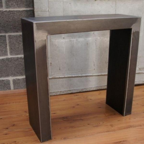 console sans tiroir console meuble meuble metal. Black Bedroom Furniture Sets. Home Design Ideas