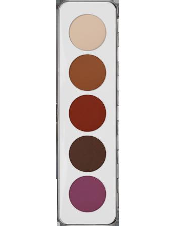 Kryolan beauty make-up - Eye Shadow Palette 5 colors Matt - Eyes #kryolan #beauty #makeup