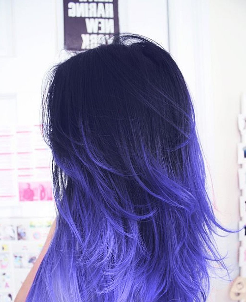 Purple highlights on black hair google search haare pinterest