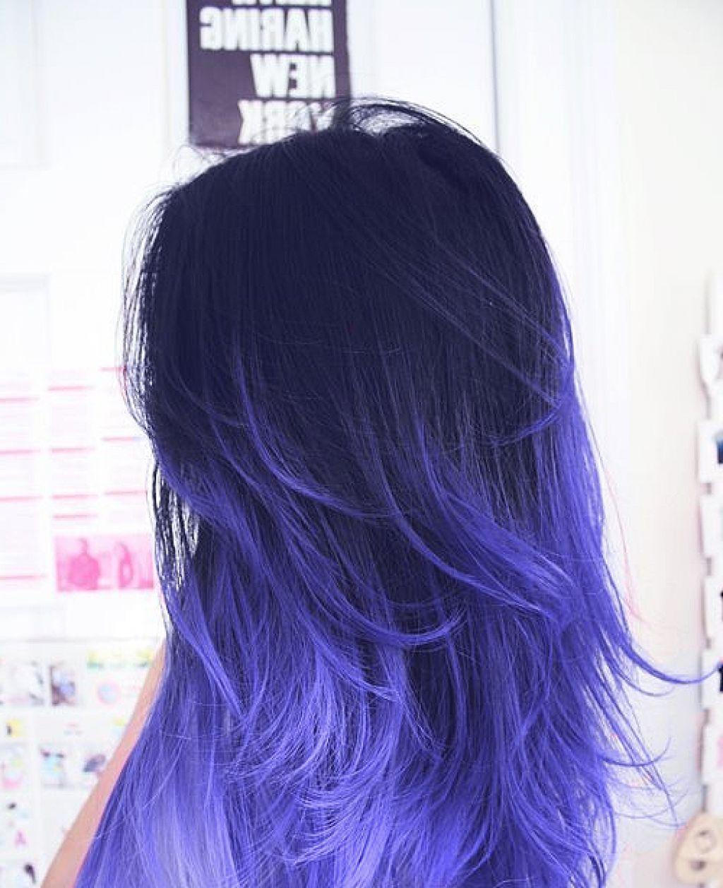 Purple highlights on black hair google search haare pinterest
