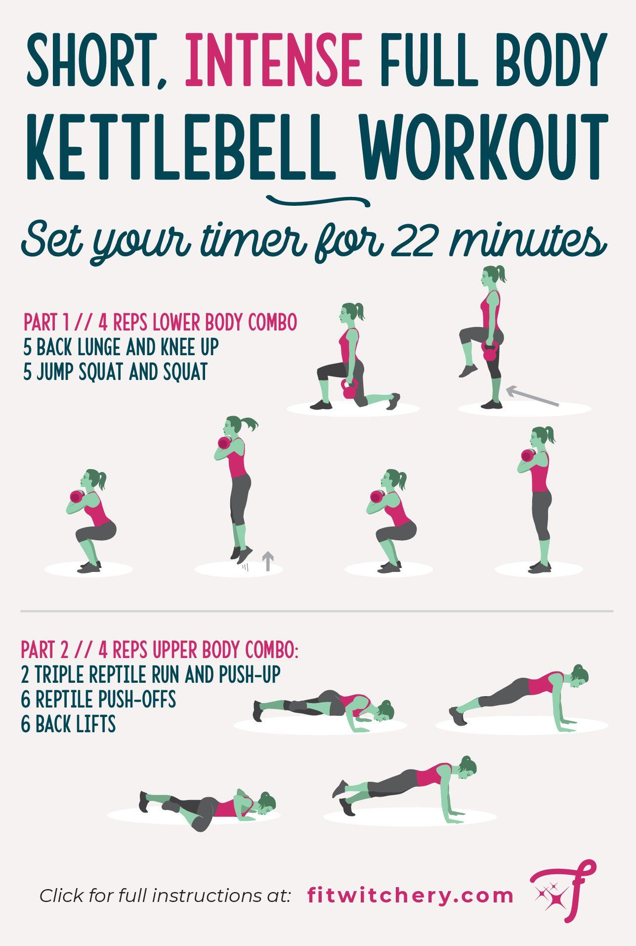 22 Minute Full Body Kettlebell Workout In 2020 Kettlebell Workout Full Body Kettlebell Workout Kettlebell