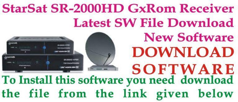 StarSat SR-2000HD GxRom Receiver latest PowerVU Auto Roll Key