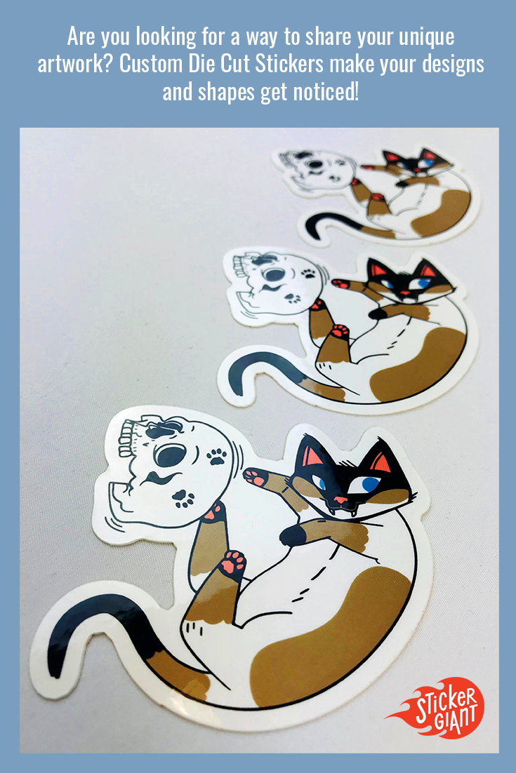 Cute designs make for some of the best custom stickers and good stickers get shared