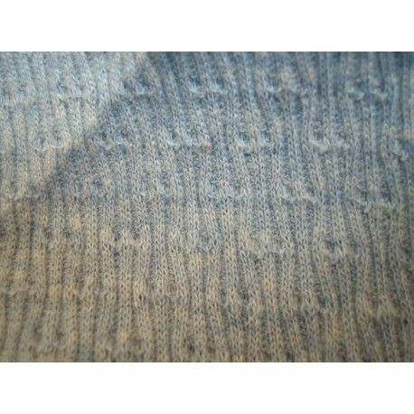 ORGANIC COTTON : Patterned melange blue tube RIB