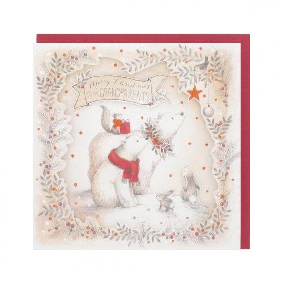 Two polar bears grandparents Christmas card   Christmas   Pinterest ...