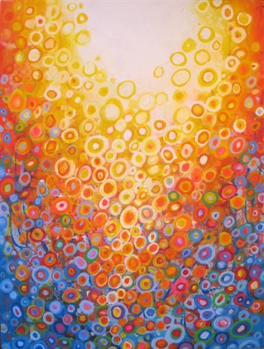 Buy original art by natasha tayles acrylic painting orange and blue at ugallery