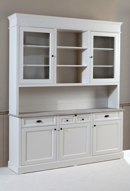 hier mal eine abbildung des baywood cupboard buffet in weiss landhausstil m bel pinterest. Black Bedroom Furniture Sets. Home Design Ideas