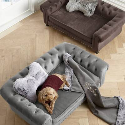 Wentworth Tufted Dog Sofa Frontgate in 2020 Comfy