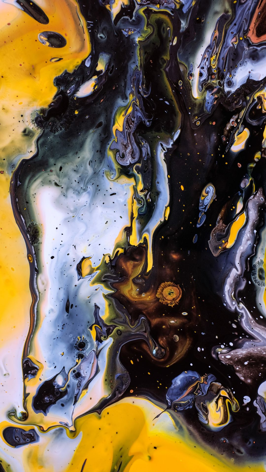 1080x1920 Blueyellow, dark, art, texture wallpaper