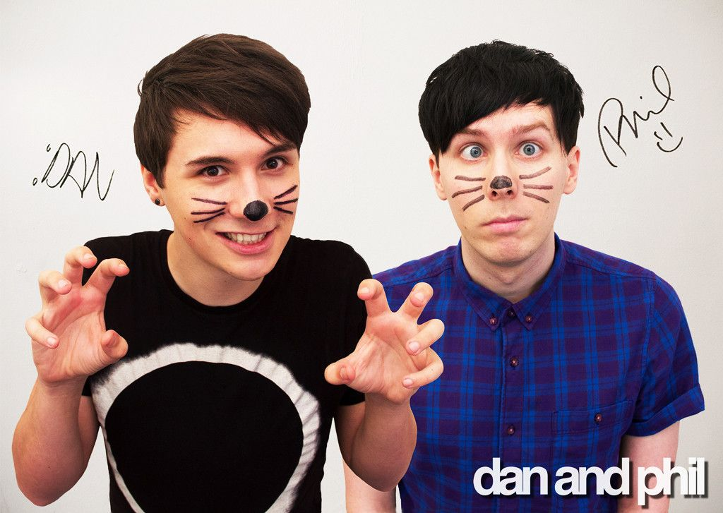 Dan And Phil Cat Whiskers Drawing