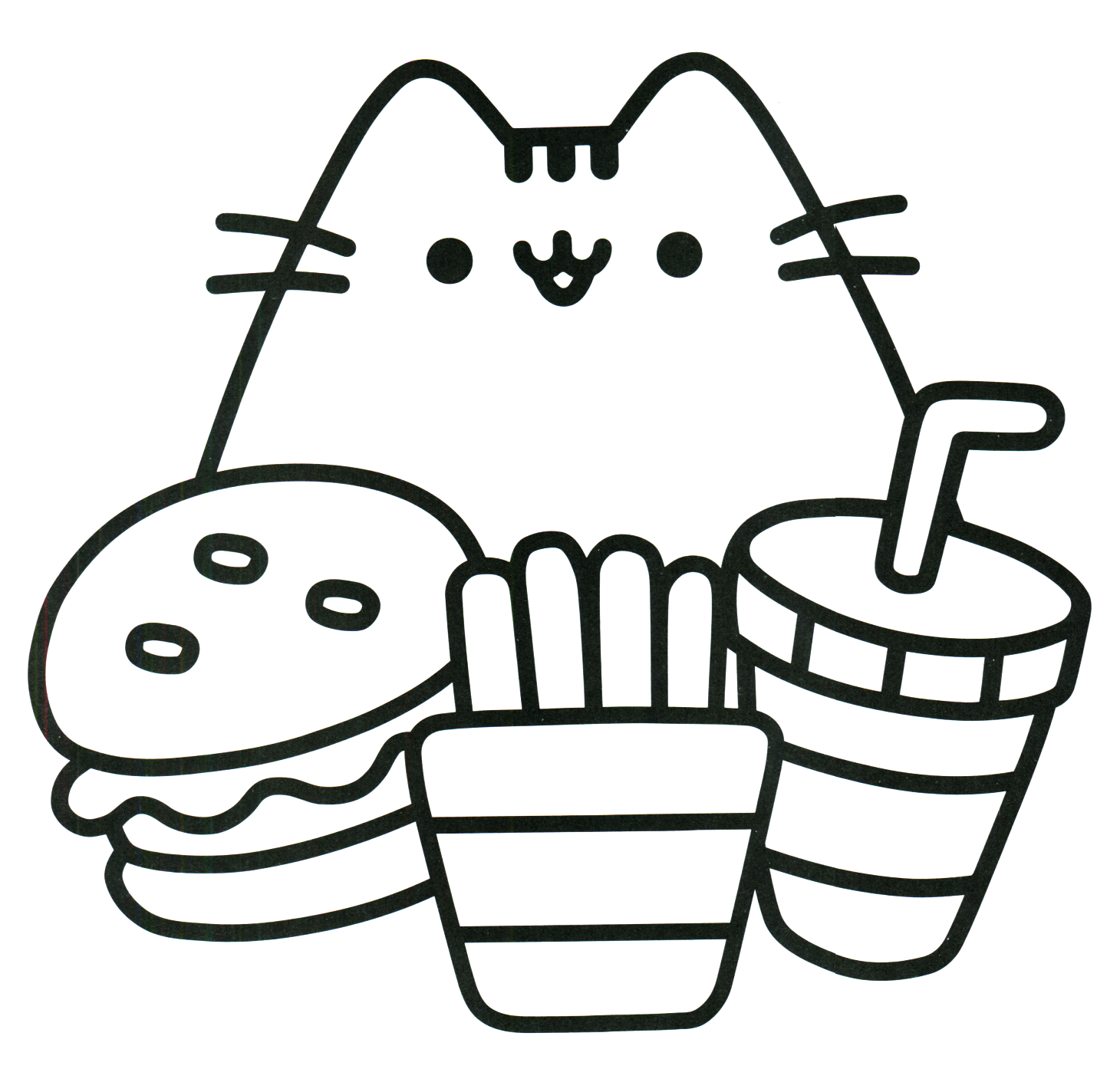 Refreshing image regarding pusheen coloring pages printable