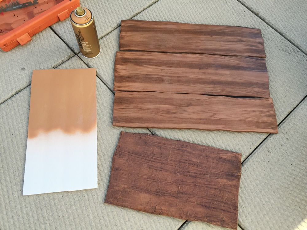How To Create A Fake Wood Grain Effect Haunted Trail Pinterest Wood Grain Woods And Spray