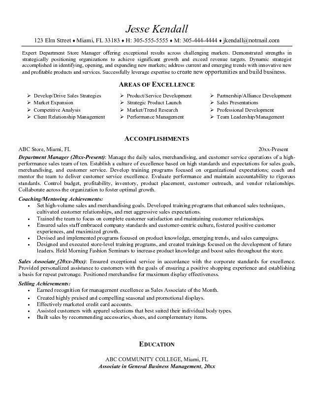 best store associate resume sample Wunderbar Retail Sales