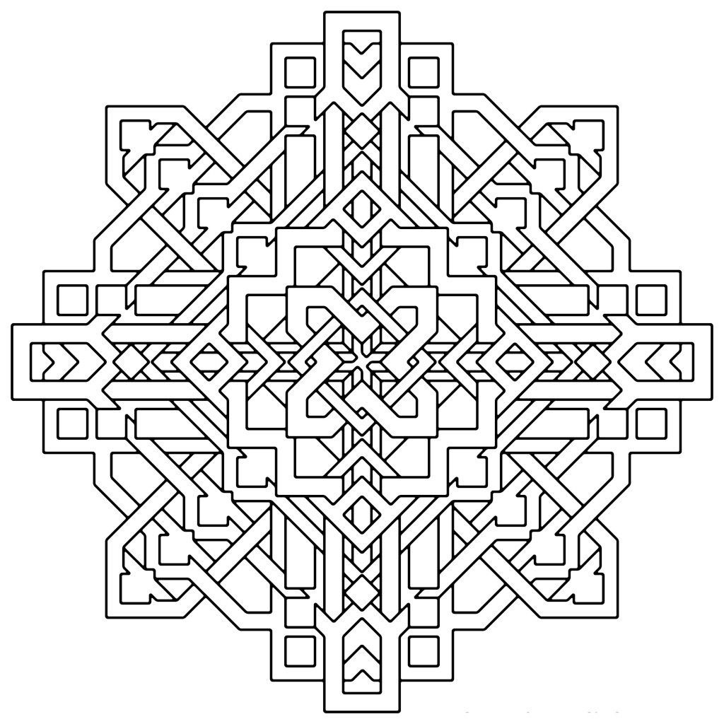 Image result for free geometric coloring pages for adults   Drawing ...