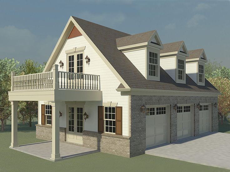garage with loft | ... -0124 - Garage Plans and Garage Blue ...