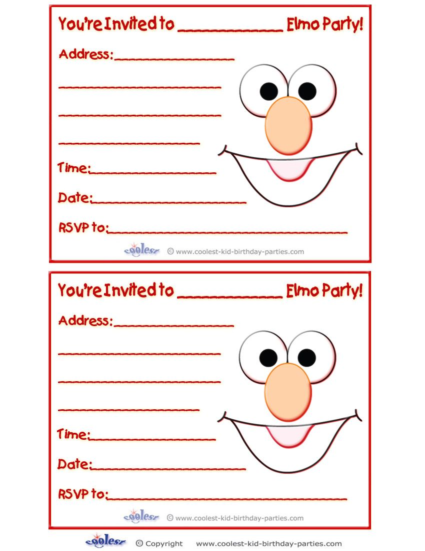 Printable Elmo Invitations - Coolest Free Printables | For the kids ...