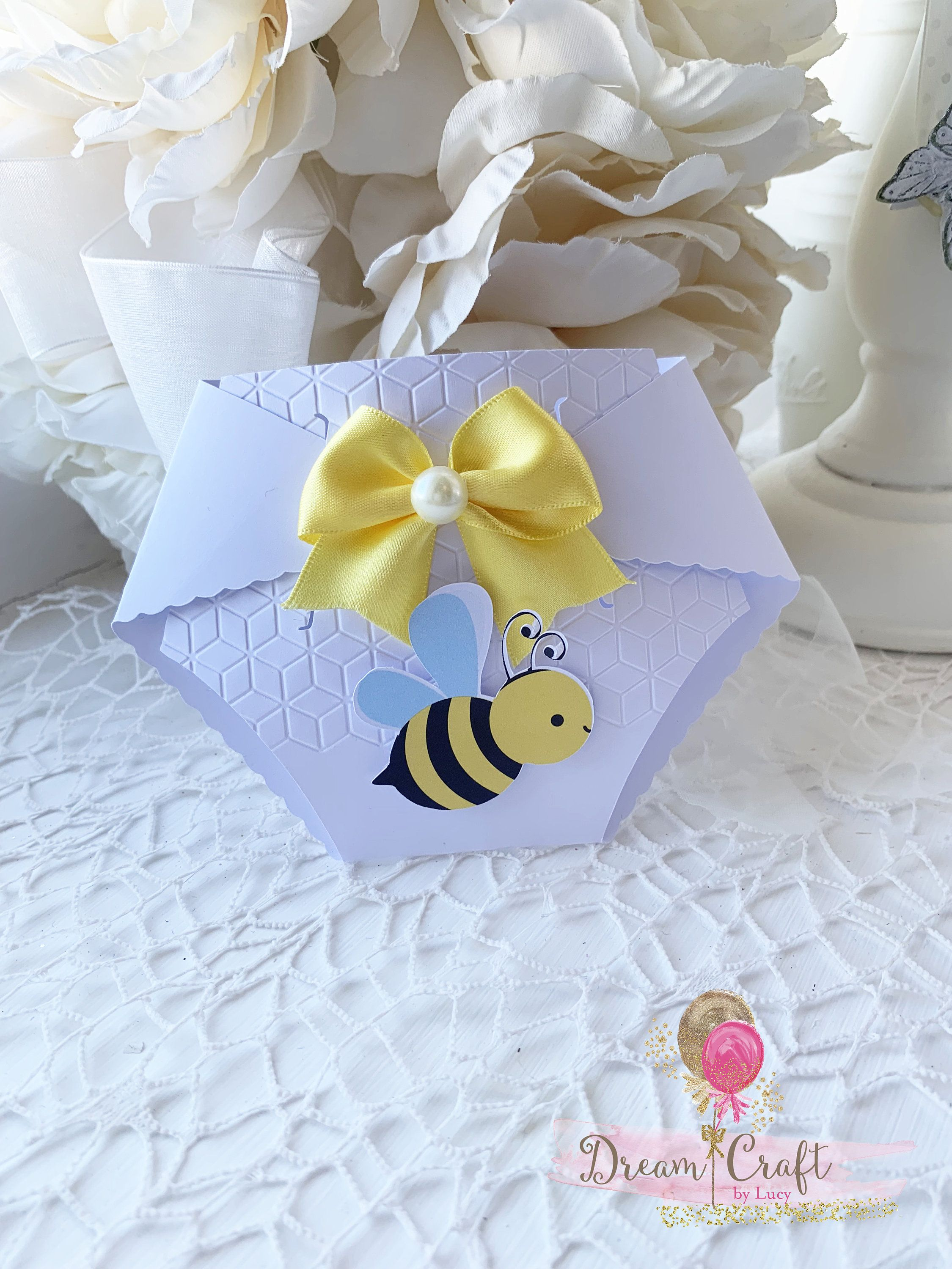Ble Bee Baby Shower Invitations