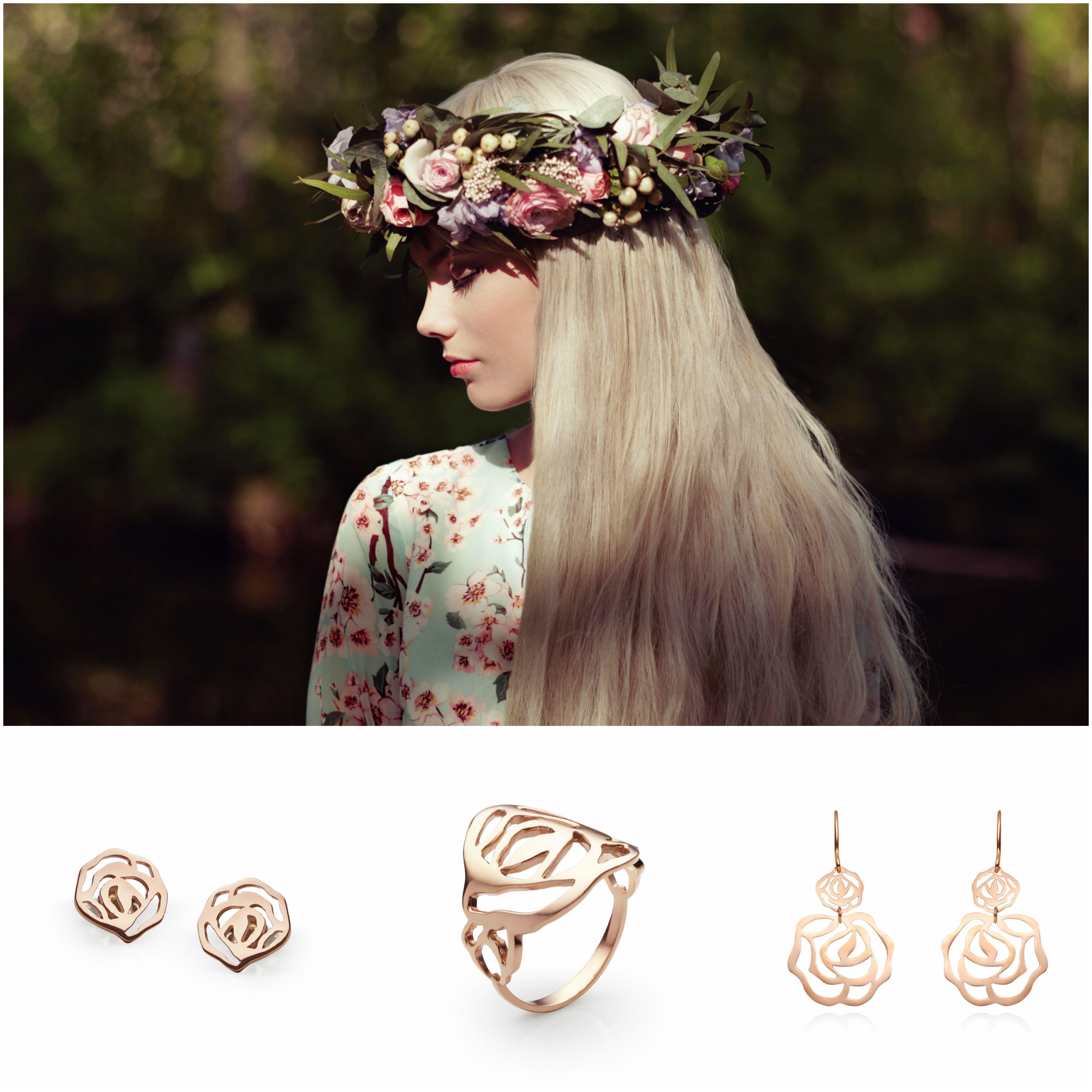 Nova Zlata Kolekcija Passion Flower Skriva Zanimive Kombinacije Lahkotnih In Igrivih Kosov Nakita Navdih Lepote Je Preprost Gold Jewelry Jewelry Crown Jewelry