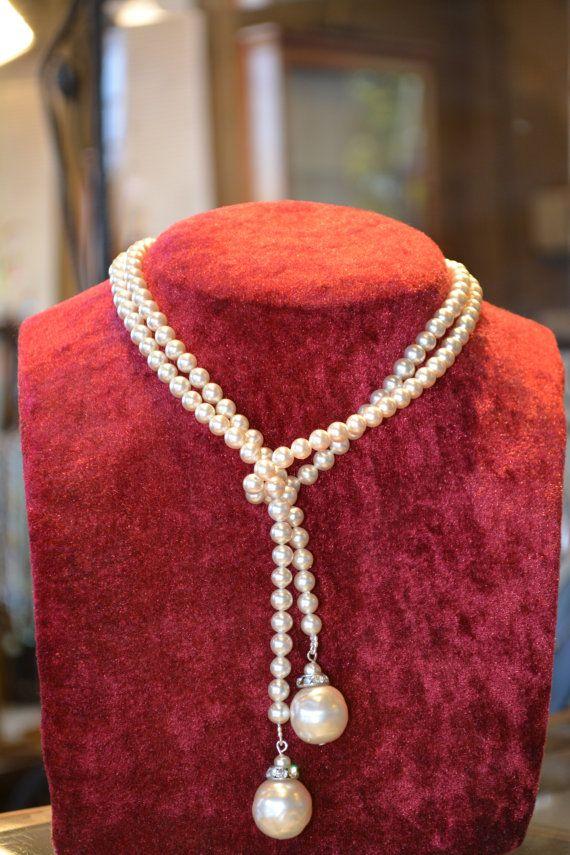 5533d6702312 Antique 1920 s pearl necklace jewelry antique Rousselet Paris luxury ...