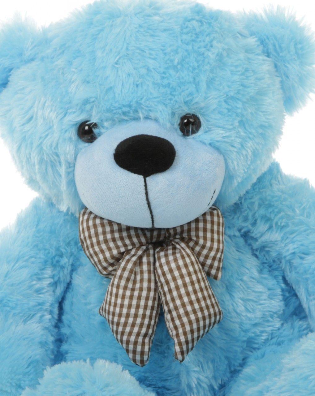 Happy Cuddles Adorable Blue Teddy Bear 26in 39 99 Http Www Giantteddy Com Blue Teddy Bear Teddy Bear Teddy [ 1280 x 1018 Pixel ]