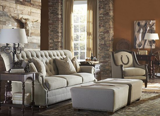 Coaster Furniture Victoria 2 Piece Living Room Set In Brown