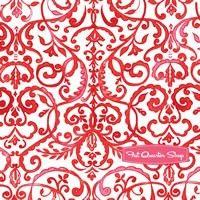 Merry Mistletoe Red Scrollwork Yardage SKU# PWDF234-REDX