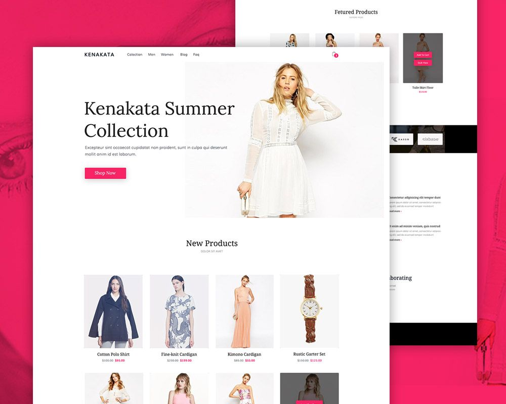 P Download Fashion Ecommerce Website Free Psd Template This Clean And Psd Template Free Free Psd Ecommerce Website Template