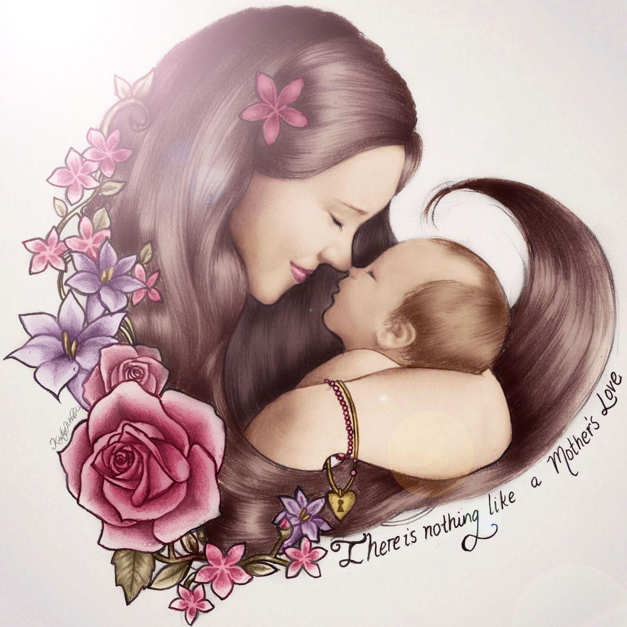 Черепаха кусает, открытка про маму и дочку
