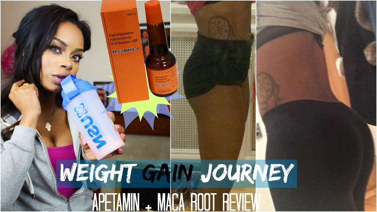 WEIGHT GAIN JOURNEY | Apetamin & Maca Root Review | YouTube