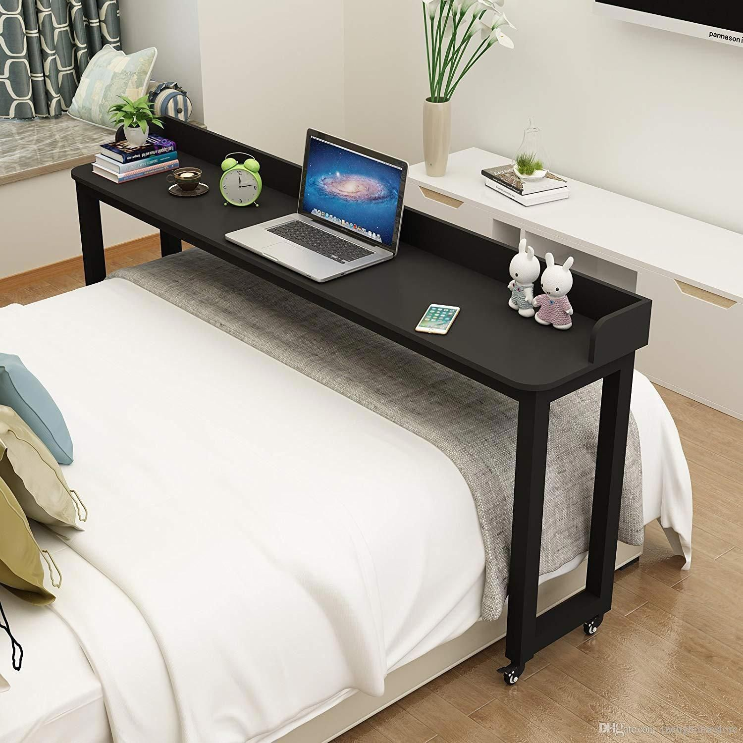 Overbed Table On Wheels Rolling Bed Laptopsinbed Bed Table
