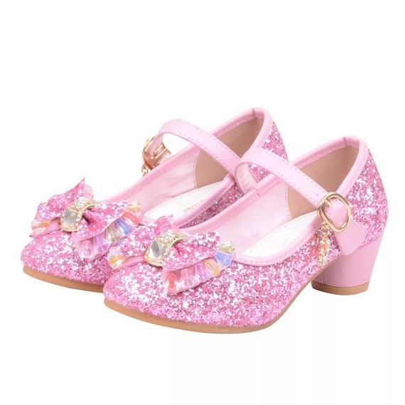 Bling Pink Glitter Flower Girls Wedding