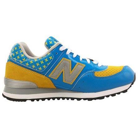 New Balance 574 Color: Yellow, Blue Item # M574MAFS | BLUE