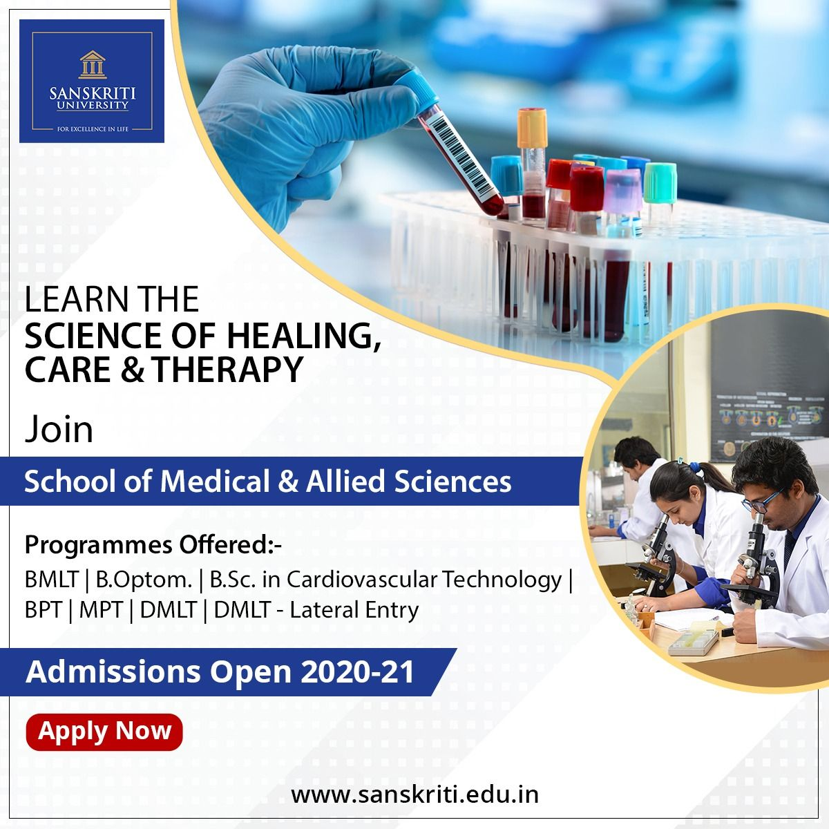 Admissions Open 2020 21 Science Programs Science Medical