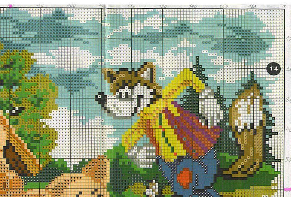 Вышивка крестом сказки схема, собака
