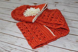 Photo of Orange Grove hat&shawl pattern by Nikolett Corley Designs