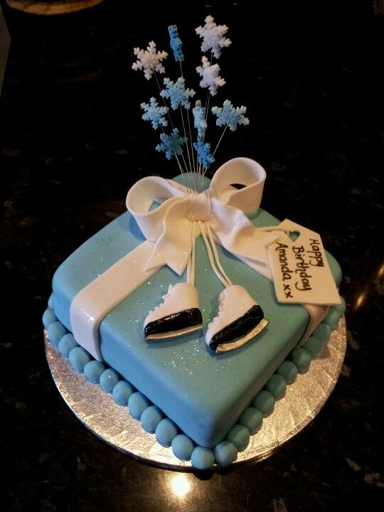 Beautiful Ice Skating Birthday Cake Made By My Friend Michelle Kid
